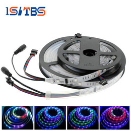 Acheter en ligne Couleur de rêve magique-6803 IC Magic Dream Color 5050 RGB LED Strip Chasing Lights 5m 12V IP67 Tube Imperméable Bandes RGB flexibles 30LED / m