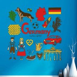 Wholesale Germany Illustration Fashion Wedding Decor Vinyl Waterproof Wall Sticker Bedroom Wallpaper Wall Decal Baby Rooms Decor