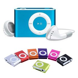 Mini Clip Mp3 Music Player Without Screen Support Micro TF Card Earphone + USB Cable + Retail box Wholesale 100pcs lot Free DHL Shipping