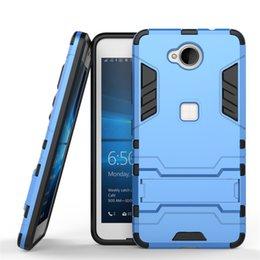 Wholesale Armor para Nokia Lumia El caso de goma plástico duro rugoso duro resistente de la cubierta del teléfono de Kickstand libera el envío
