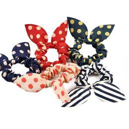 Fashion Head Flower Accessoires pour cheveux Headdress Bibelots Rabbit Ears Tissu en caoutchouc en caoutchouc à partir de tissu rose têtes fournisseurs