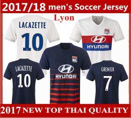 Top quality 2017 2018 Olympique Lyonnaise soccer jerseys 17 18 Lyon soccer Jerseys GRENIER SCHELIN LACAZETTE LAVOGEZ Lyon Football Shirts