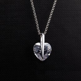 Cubic Zirconia Heart Pendants & Necklaces for Women Top Selling Fashion Brands White Gold Color Plating Jewellery Wholesale