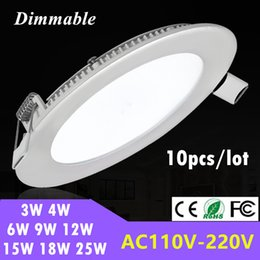 2017 down light led 6w Vente en gros - Dimmable encastré en LED rond LED 3W 4W 6W 9W 12W 15W 18W 25W LED plafonnier Down Light AC 85-265V down light led 6w ventes