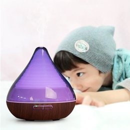 Wholesale Mini Portable Aroma Essential Oil Diffuser Ultrasonic Aroma Humidifier Air Light Wooden Diffuser Mist Maker For Home Office