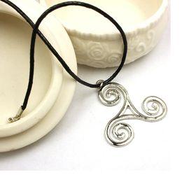 Wholesale Zinc alloy Teen Wolf necklace Triskele Triskelion Allison Argent silver color pendant jewelry for men and women WA1660