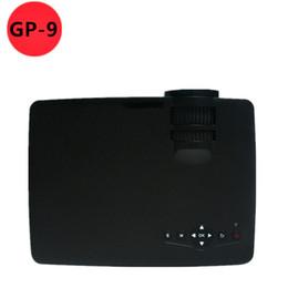 Vente en gros-2015 NOUVEAU GP-9 MINI projecteur 800 lumens HD Home Theater pour jeux vidéo TV Movie Support HDMI AV Portable cadeau gratuit à partir de nouveaux jeux vidéo fabricateur