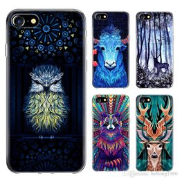 Wholesale 3 rr IPhone s plus Protective Cover Polychrome Soft Cell Phone Case Animal Totem Cellphone Cases New Tidal