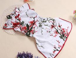 Summer children cheongsam Girl Dress Up Princess Dress National wind cotton Girl dress Tang suit dresses
