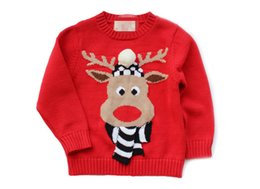 Wholesale 2016 New lovely beef flowers children sweater children coats cotton keep warm Christmas sweater Package Mail