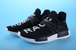 2017 Discount high quality Pharrell Williams NMD HUMAN RACE In black blue grey white men women Classic Sport sneakers running Shoes eur36-44