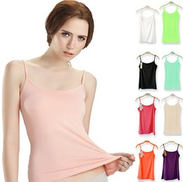 Wholesale Hot Modal Women Camisoles Euramerican Loose Elastic Basic Tank Tops For Ladies Fashion Female Sleeveless tshirt Underwear