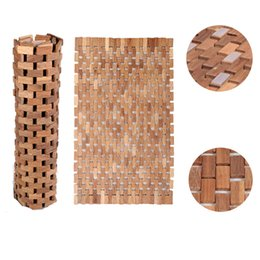 Wholesale New Teak Non Slip Bath Mat Large cm Bath Tub Mat Bathroom Furniture USA Stock