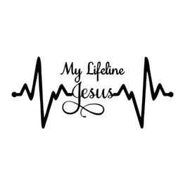 For My Lifeline Jesus Decal Sticker Christian God Religious Cute Car Styling Jdm Car Window Truck Vinyl Accessories Decorate