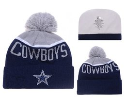 Wholesale Cheap Football Beanies Men s Cowboys Heather Gray Sideline Official Sport Knit Hat Dallas Knitted Hats Hottest Sports Caps