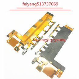 100PCS Top quality for Sony Xperia Z3 3G 4G Version D6653 D6603 D6643 Power Button Volume Switch Flex Cable with Microphone Vibrator