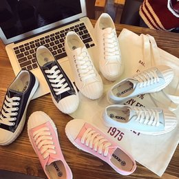 2016 Real Black Sky Blue Pink 2017 New Harajuku Canvas Shoes Casual Female Student Summer White Shoe Lace Up All-match Fashion Number 35-40