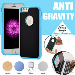 Wholesale Anti Gravity Case Selfie Hybird TPU PC Sticky Antigravity Magical Back Cover For iPhone Plus S SE S Samsung Note S7 S6 Edge