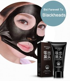 BIOAQUA mask nose film black deep clean clean dry skin acne containers and contractive pore black mud of whitening cosmetics