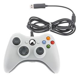 Blanco xbox palanca de mando en Línea-USB con cable Joypad Gamepad para Microsoft Xbox 360 consola con cable controlador negro blanco rojo azul para XBOX360 PC Game Joystick