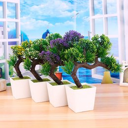 Wholesale 2017 New arrival Big Sale Artificial plants tree flower bonsai fake flowers plant pine trees Komatsu