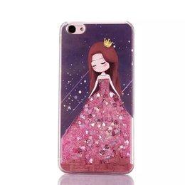Cubierta suave de la caja de Bling de Giltter Bling de las muchachas del vestido púrpura rosado elegante 14designs para el iPhone 6 6s más / iPhone 7 más las cajas del teléfono celular desde iphone bling la rosa fabricantes