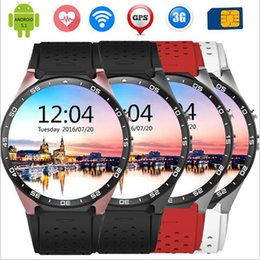 2017 Lemfo KW88 MTK6580 Android 5.1 OS Smart Watch Phone 400*400 Screen quad core smartwatch Support SIM pedometer heart rate