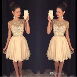 2018 Mini Short Homecoming Dresses Crystal Beaded Sweet 16 Graduation Dresses Little Chiffon Short Cocktail Dress Prom Party Dresses