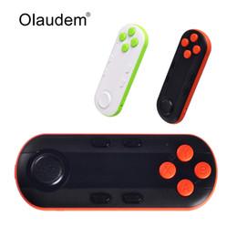 Descuento androide de la palanca de mando inalámbrico Venta al por mayor-Wireless Bluetooth controlador joystick Remote Gamepad obturador de la cámara Compatible con IOS Android PC para 3D VR gafas BC318