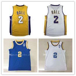 Wholesale Top quality UCLA Lonzo Ball Basketball Jersey Men Sports wear embroidered Logos Cheap sports shirts