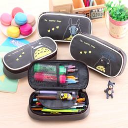 Х большой для продажи-Оптово-1 х творческий Тоторо PU водонепроницаемый молния Карандаш сумка большой емкости пенал школа подарок детям канцелярские