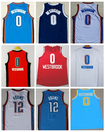 Wholesale High Quality Russell Westbrook Jersey Christmas Steven Adams Basketball Jerseys Orange Blue White All Stitched