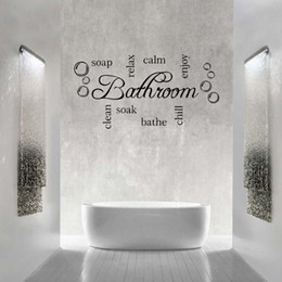 Wholesale For Bathroom Word Cloud Quote Vinyl Wall Art Sticker Mural Decal Bathroom Soak Enjoy Diy Decoration