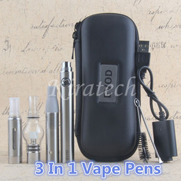 Vape dry herb 3in1 kit wax vaporizer wee herble e-liquid evod all in one vaping pen starter kits