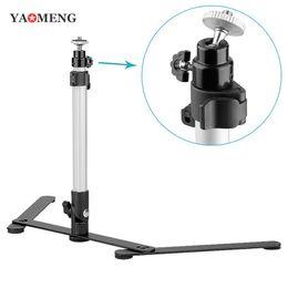 Plates-formes de caméra pour dslr en Ligne-Yaomeng Pro Mini trépied léger en aluminium Table Appareil photo Trépied Support Rig Stand Monopod Mount pour DSLR Appareil photo numériqueCamcorder