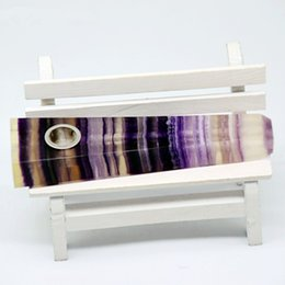 Natural quartz crystal rod production of natural mineral crystal purple stripes fluorite smoking wand pipe wholesale