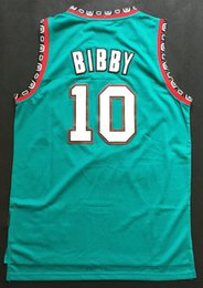 Wholesale top quality mens stitched Mike Bibby Embroidery Logos retro purple black white green products fast