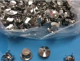 wholesale new 100pcs per lot no tools need Locking Pin Backs silver baged for disney pins
