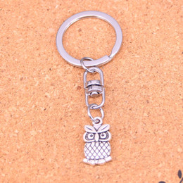 New Fashion big eyes owl Keychains Antique Silver plated Keyholder fashion Solid Pendant Keyring gift