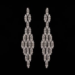 2017 New Fashion Charm Women's Stud Earrings Jewelry Classic Long Many Small Rhinestone Accessories wholesale The girl a gift