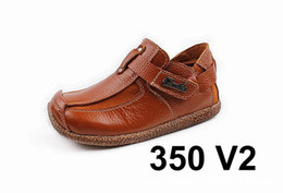 Wholesale Jeff Store Kids Casual Shoes Brown Color Genuine Leather Top version