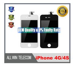 Calidad del OEM AAA para el reemplazo completo DHL de la asamblea del sistema del digitizador de la pantalla táctil del iPhone 4G 4S LCD libera el envío desde iphone 4s conjunto completo proveedores