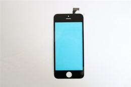 2017 iphone vidrio de alta calidad Para el iPhone 6G Digitalizador de pantalla táctil de cristal de alta calidad G + G con prensado en frío Medio marco de bisel Reparación de TP iphone vidrio de alta calidad oferta