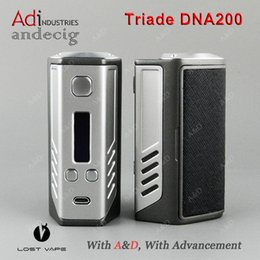 Wholesale Authentic Lost Vape Triade DNA200 TC BOX MOD Evolv DNA Chip FOR Augvape Merlin Mini Limitless Classic ijoy combo rdta tank