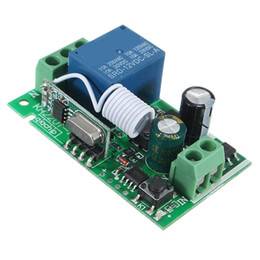 Descuento control remoto 315 Smart Home DC 12V 220V 10A 1 Ch RF inalámbrico de control remoto receptor de conmutación del relé 315/433 MHz Channel Heterodyne Mejor Precio