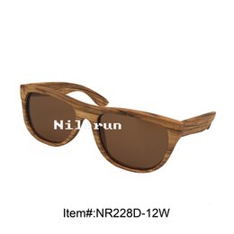 brown polarized zebra wood sunglasses
