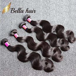 Bella Hair® 8A Hot Sale 8-30 inch Brazilian Hair Weft 4 Bundles Unprocessed Human Hair Natural Black Color Brazilian Body Wave Hair Bundles