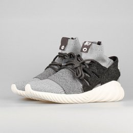 Wholesale 2017 Brand Shoes KITH x Doom Primeknit Y3 Tubular Warrior Binding Feet Soft Sneakers Men Running Sock Shoes With Boxes