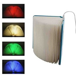 Wholesale Colorful Wooden LED Folding Book Lamp Night Light Desk Table Lamp Colors Lumio Style Magnetic Travel Book Reading Lamp Rech