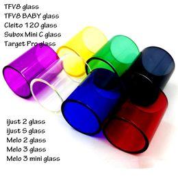 Wholesale E Cig Replacement Glass Tube for SUBOX MINI C KIT TFV8 Baby Target Pro IJUST IJUST S MELO MELO MINI